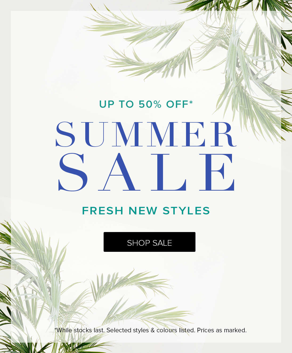 Save up to 50% off summer sale on now at The Iconic.