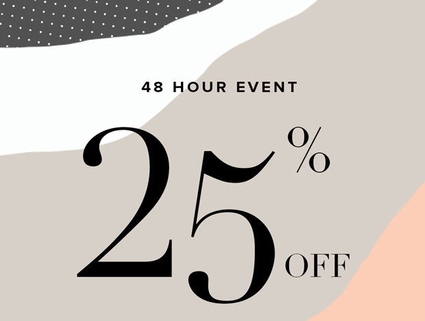 Save 25% off on all orders for 48 hours only at The Iconic.