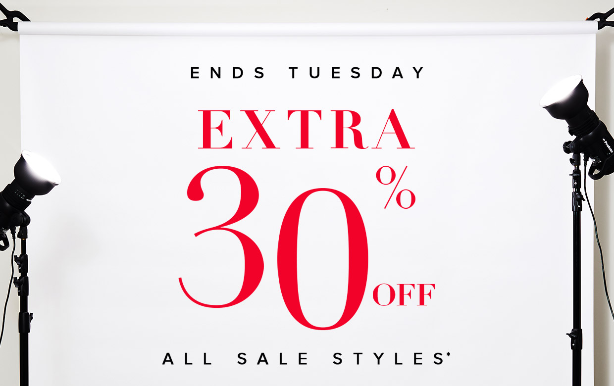 Save 30% off all sale styles at The Iconic.