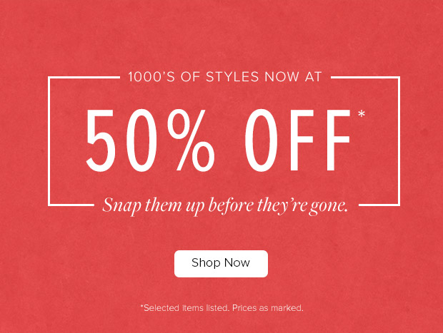 Save 50% off 1000's of styles + free delivery on orders over $50 at TheIconic.com.au